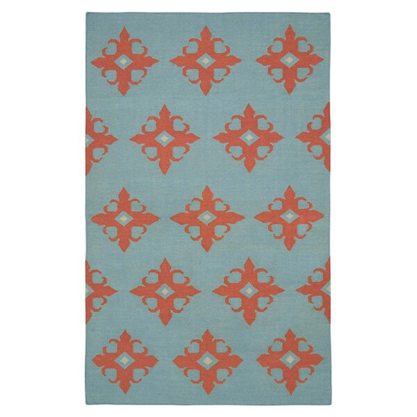 Hand-Woven Light Blue Area Rug by The Conestoga Trading Co.
