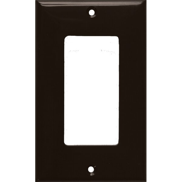 1 Gang Decorator / GFCI Lexan Wall Plates in Brown by Morris Products