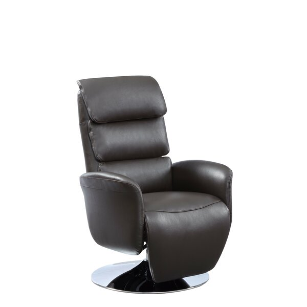 Deshaun Leather Power Recliner by Orren Ellis