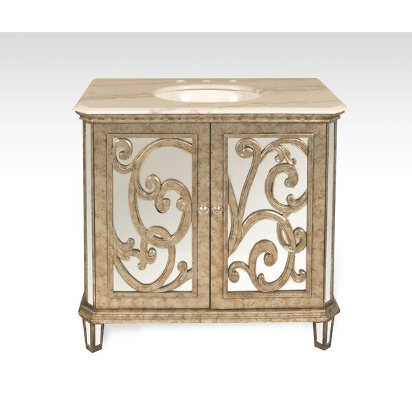 Chenai 36 Calacatta Marble Single Bathroom Vanity Set by Everly Quinn