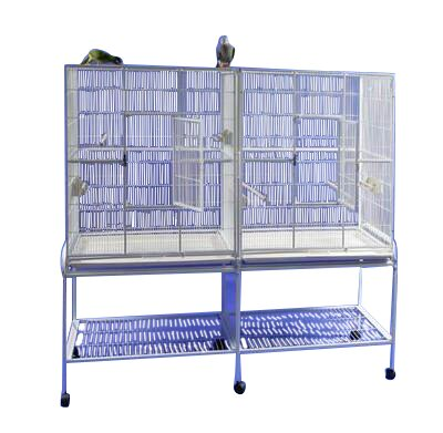 Baxter Double Flight Bird Cage with Divider by Tucker Murphy Pet