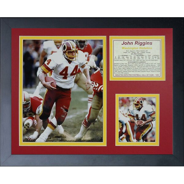 John Riggins Framed Memorabilia by Legends Never Die