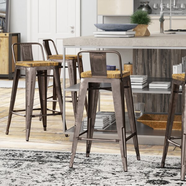 Peachy Price Check Russett 26 Bar Stool By Three Posts Cjindustries Chair Design For Home Cjindustriesco