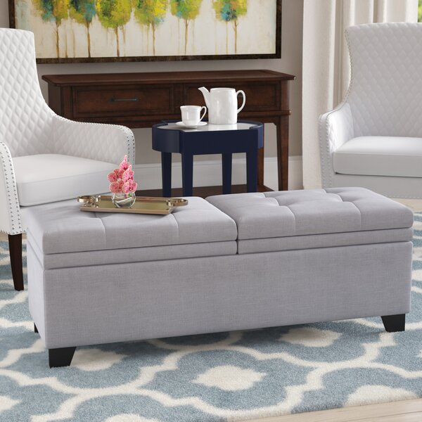 Rhinegeist Upholstered Storage Bench by Alcott Hill