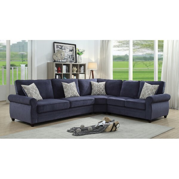 Web Order Voorhies Right Hand Facing Sleeper Sectional by Red Barrel Studio by Red Barrel Studio