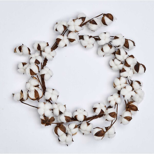 Cotton 20 Wreath by Millwood Pines