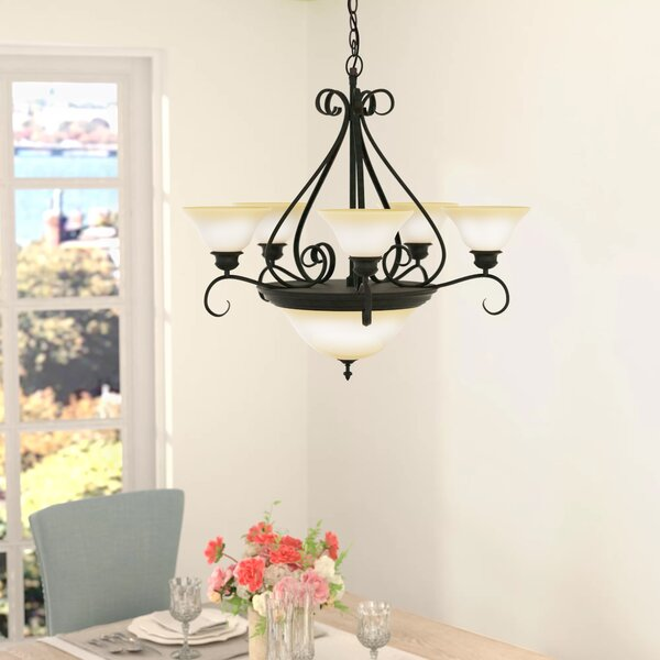 Ambrose 7 - Light Shaded Empire Chandelier By Darby Home Co