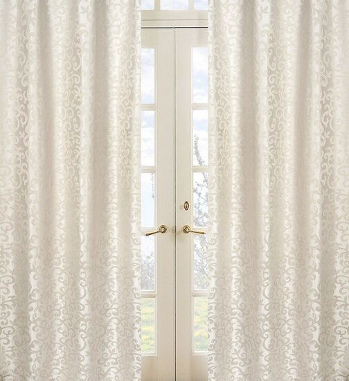 Victoria Jacquard Damask Semi-Sheer Rod Pocket Curtain Panels (Set of 2) by Sweet Jojo Designs
