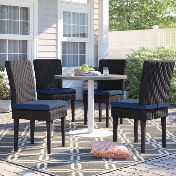 Fairfield Patio Dining Chair with Cushion (Set of 4) by Sol 72 Outdoor