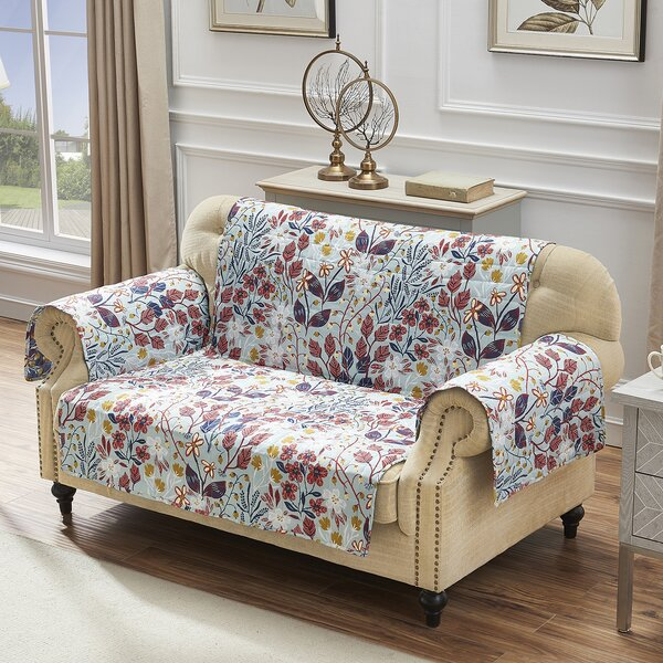 T-Cushion Loveseat Slipcover By August Grove