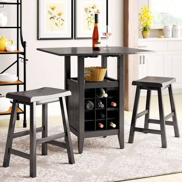 Carisbrooke 3 Piece Pub Table Set in Espresso by Alcott Hill Alcott Hill