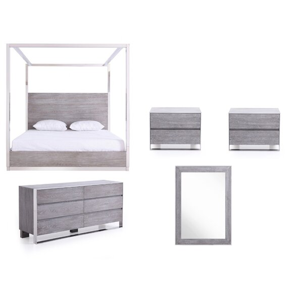 Gutfroind-Pulliat King Canopy 4 Piece Bedroom Set by Orren Ellis