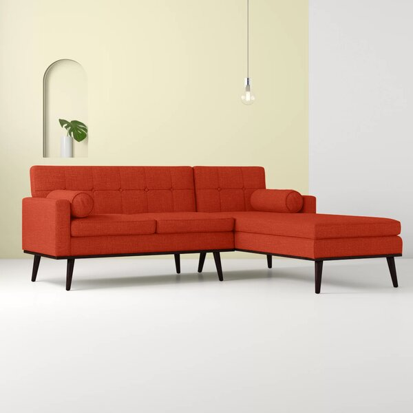 Catalina Right Hand Facing Venus Mid Century Modern Modular Sectional Sofa by Hashtag Home Hashtag Home