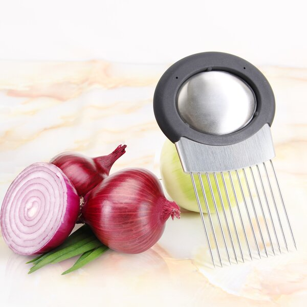 Stainless Steel Onion Holder Slicer Chopper Gadget by Lifewit