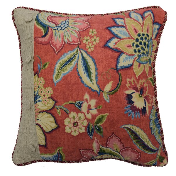 Brighton Blossom Pieced Cotton Throw Pillow by Waverly