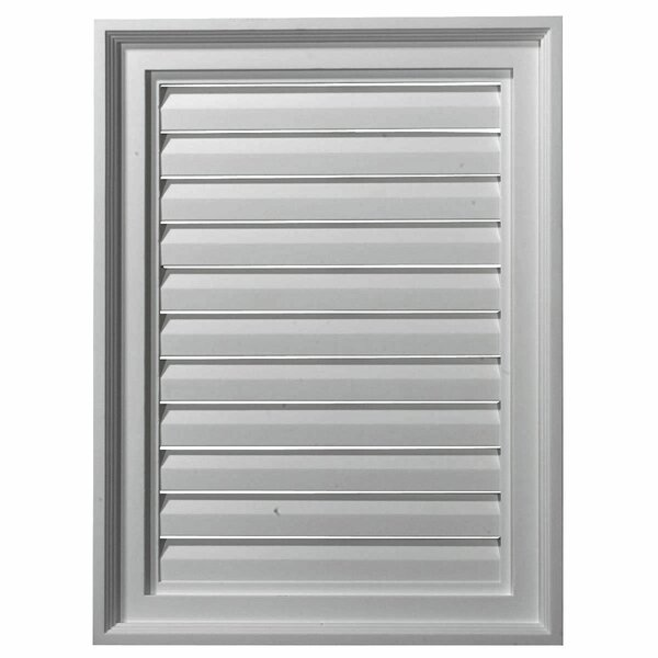 24H x 18W Vertical Gable Vent Louver by Ekena Millwork