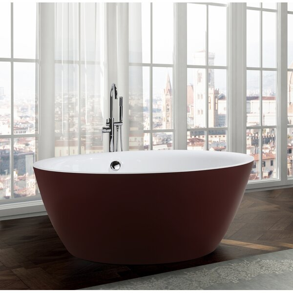 Pescara 59.1 x 59.1 Freestanding Soaking Bathtub by Bellaterra Home