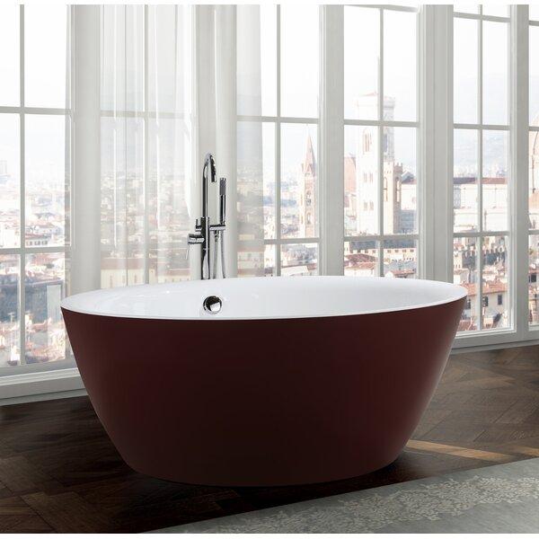 Pescara 59.1 x 59.1 Freestanding Soaking Bathtub by Bellaterra Home