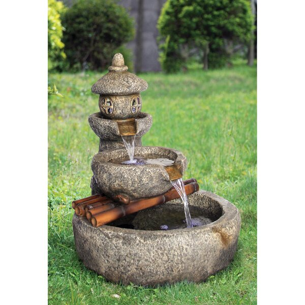 Resin Pagoda Garden Tiered Fountain with LED Light by Wildon Home ®