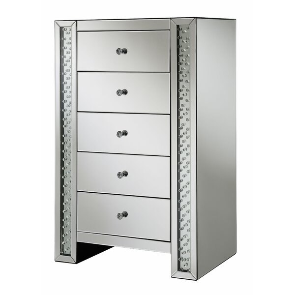 Fairgrove 5 Drawer Mirrored Accent Chest By Mercer41