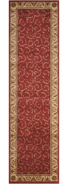 Merton Red/Gold Area Rug by Charlton Home