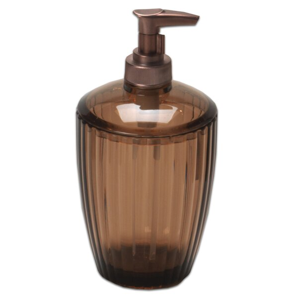 Ribbed Acrylic Lotion Dispenser by Sweet Home Collection