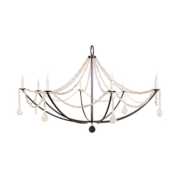 Crystal Nugget 8-Light Candle Style Classic / Traditional Chandelier by Lowcountry Originals Lowcountry Originals