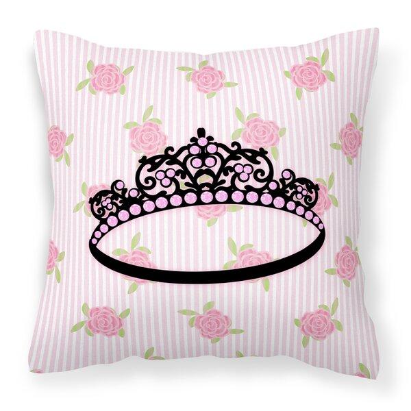 Hornbuckle Ballerina Tiara Sparkles Indoor / Outdoor Throw Pillow