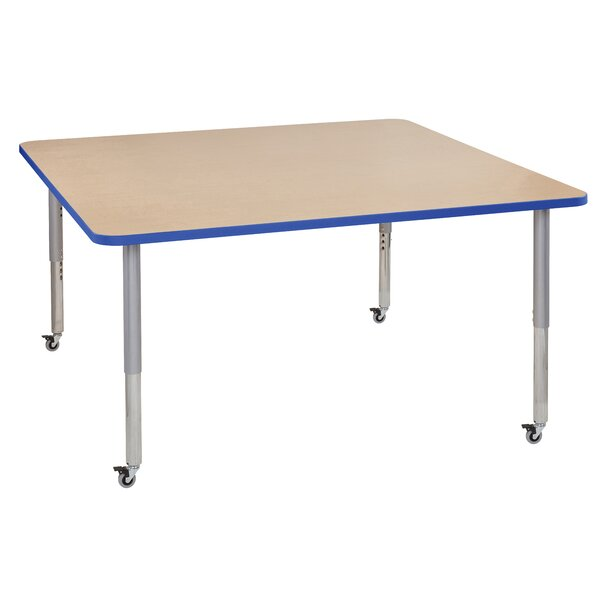 Maple Top T-Mold Adjustable 60 Square Activity Table by ECR4kids