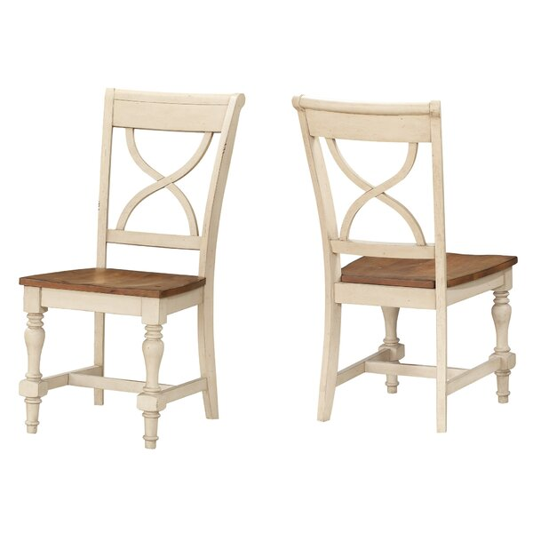 Chincoteague X Back Solid Wood Dining Chair (Set of 2) by August Grove