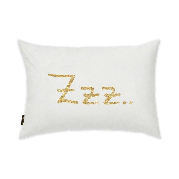 Quintrell ZZZ Gold Lumbar Pillow by Mercer41