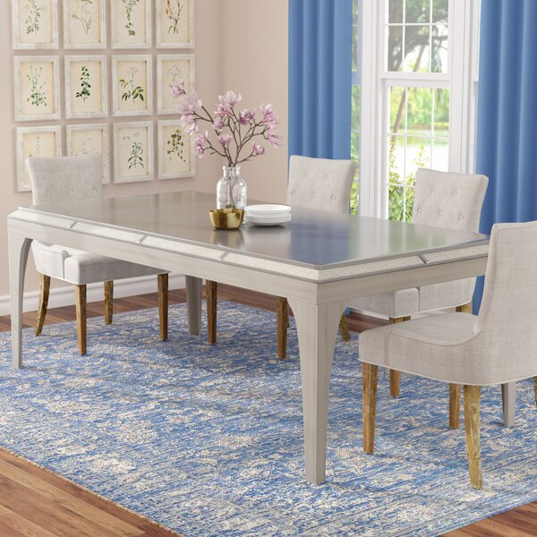 Shelton Contemporary Dining Table by One Allium Way One Allium Way