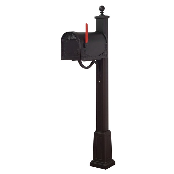 Floral Curbside Mailbox with Main Street Post Included with Base by Special Lite Products