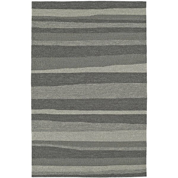 Lovitz Hand-Tufted Pewter Indoor/Outdoor Area Rug by Williston Forge