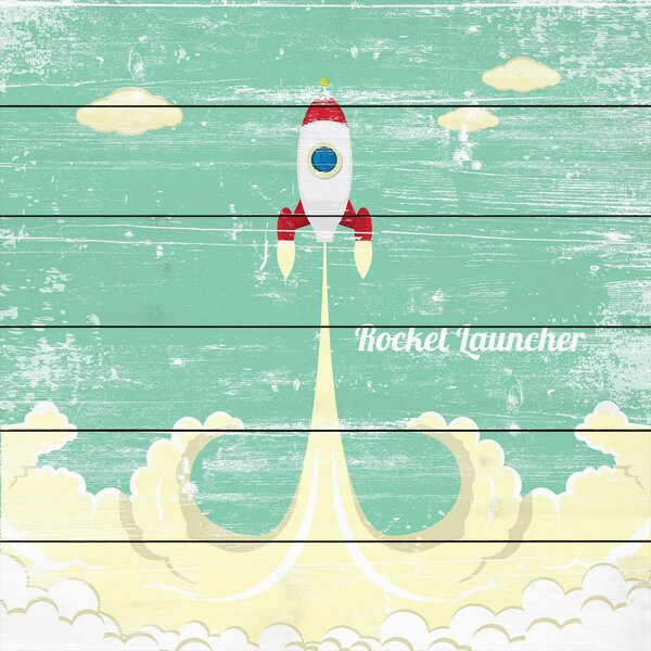 Rocket Launcher Painting Print on White Wood by Marmont Hill