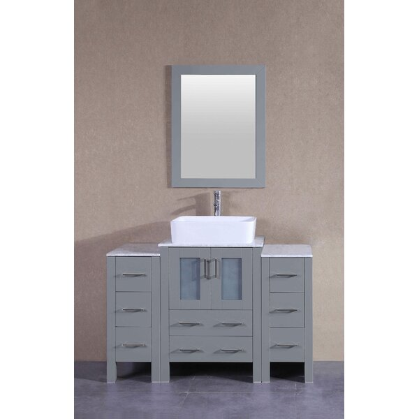 Aruba 48 Single Bathroom Vanity Set with Mirror by Bosconi