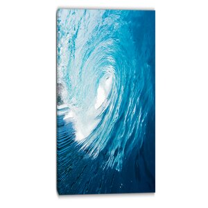 Ocean Waves in Hawaii Photographic Print on Wrapped Canvas by Design Art