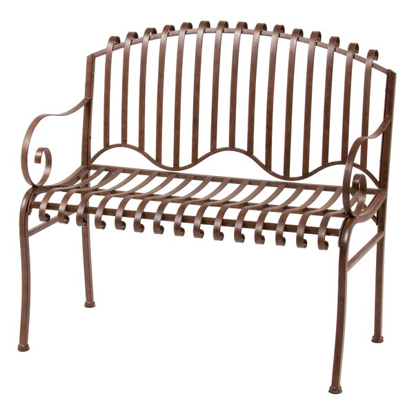 Solera Metal Garden Bench by Deer Park Ironworks