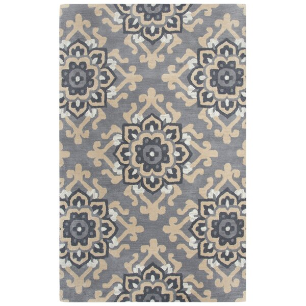 Raj Hand-Tufted Wool Gray Area Rug by Red Barrel Studio