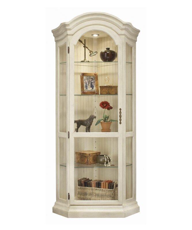 Charming ColorTime Panorama Corner Curio Cabinet