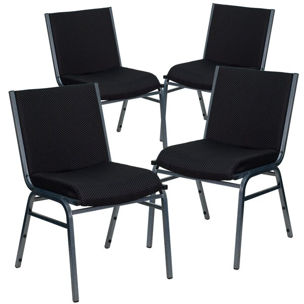 Laduke Armless Heavy Duty Fabric Stacking Chair (Set of 4) by Symple Stuff
