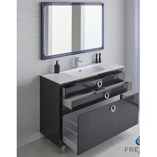 vanity cabinet painted midnight a to hardware update bathroom blue paint makeover brass how with
