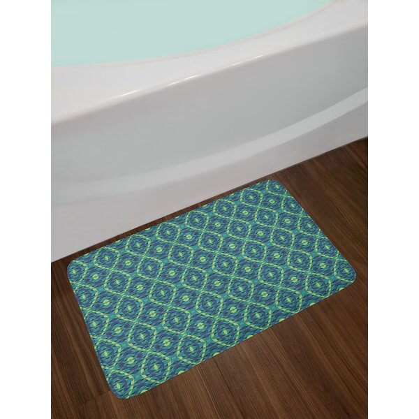 Rhombuses and Triangles Geometric Bath Rug by East Urban Home