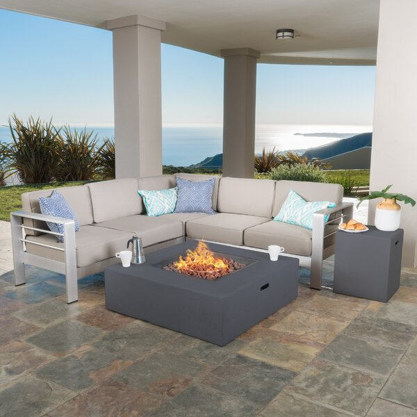 Durbin 5 Piece Sectional Set with Cushions by Wade Logan