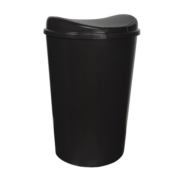 Plastic 13.8 Gallon Touch Top Trash Can (Set of 4) by Hefty