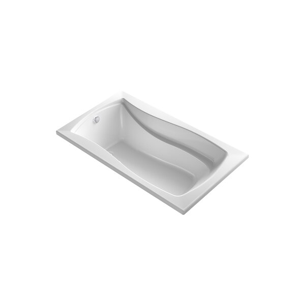 Mariposa 66 x 35.88 Drop-in BubbleMassage Air Bathtub by Kohler