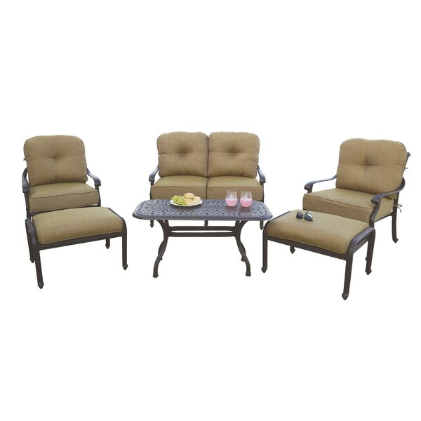 Calhoun 6 Piece Sofa Set with Cushions by Fleur De Lis Living