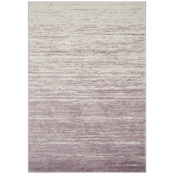 Connie Purple/Cream Area Rug by Greyleigh