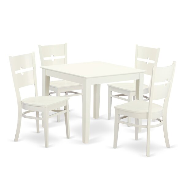 Cobleskill 5 Piece Dining Set by Alcott Hill