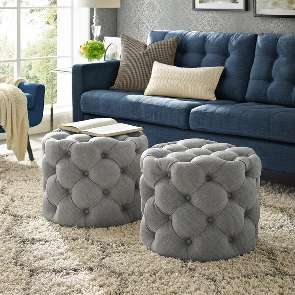 Mucha Tufted Cube Ottoman by House of Hampton